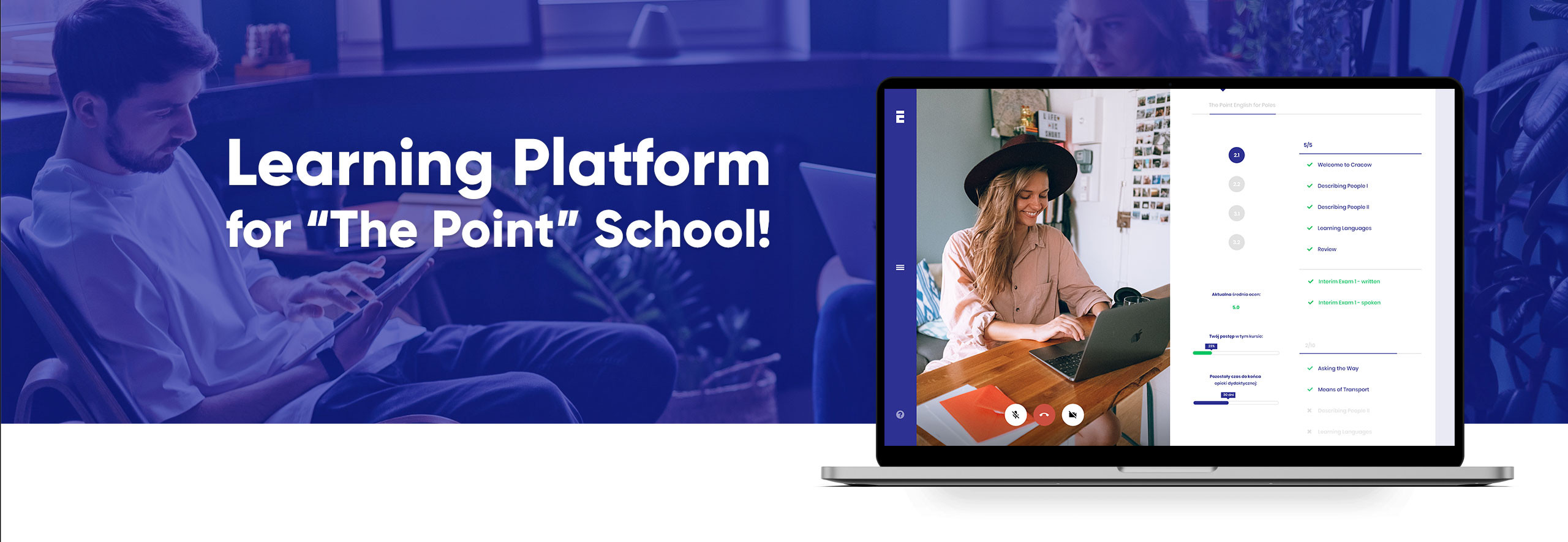 Learning Platform for The Point school!