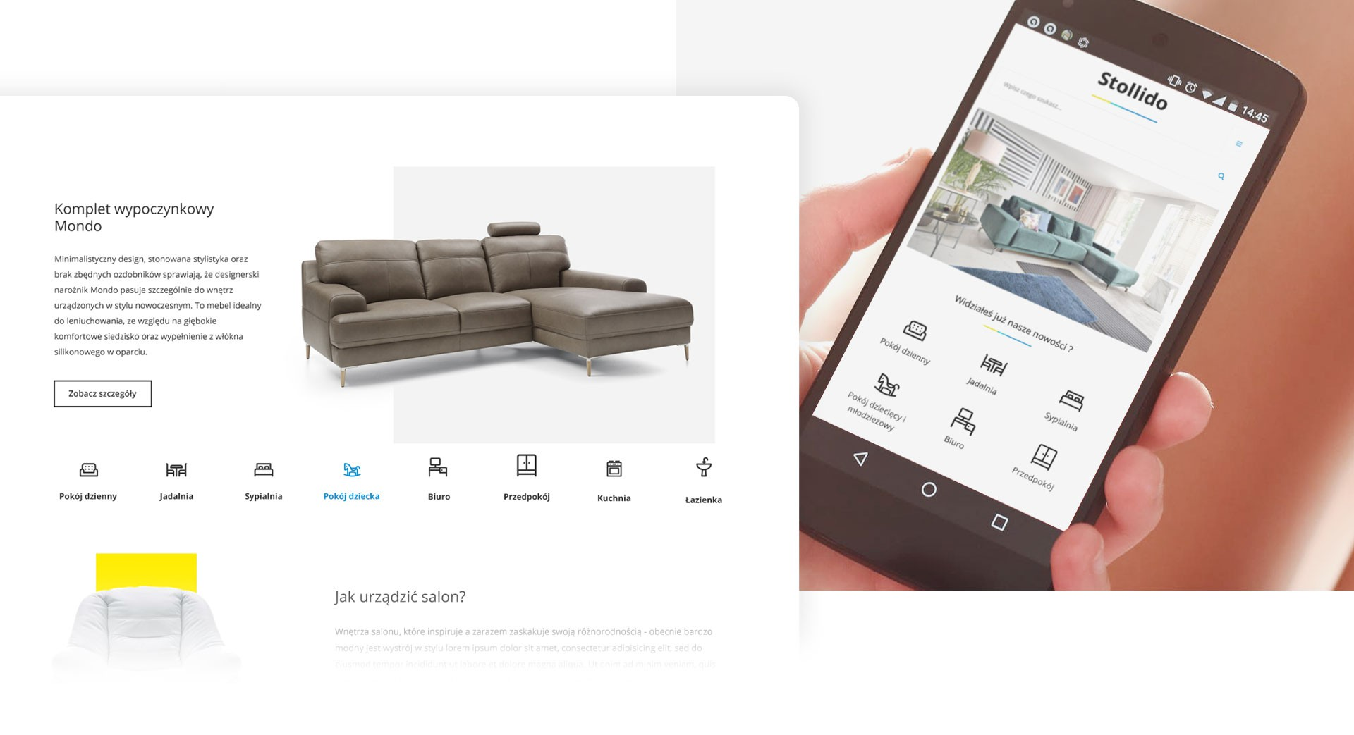 Furniture catalog  with hundreds of products