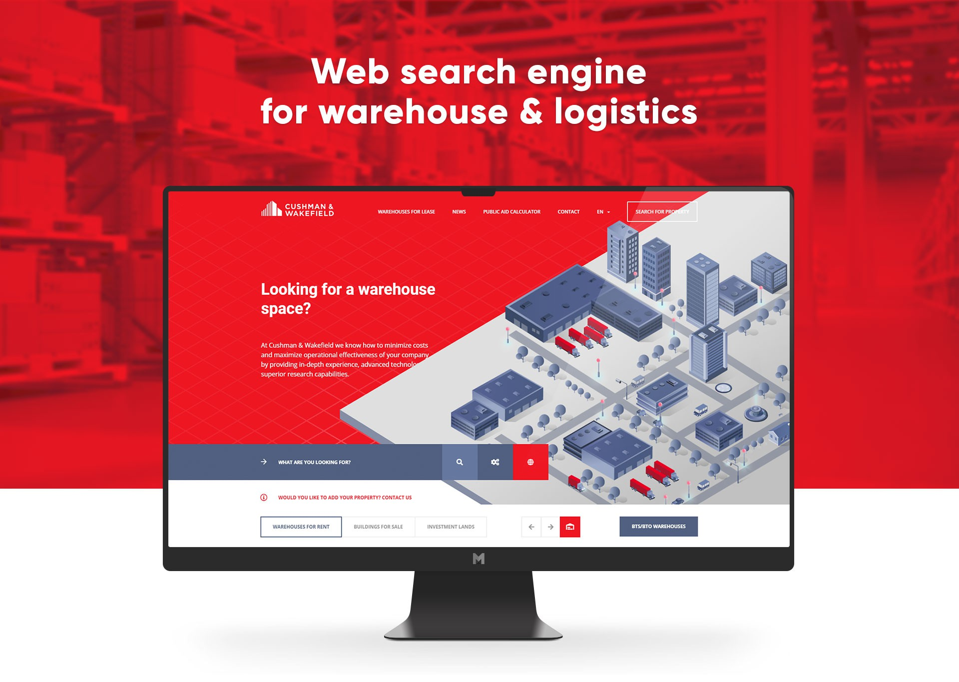 Web search engine for warehouse & logistics